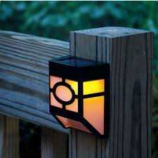 4pcs solar wall lamp 2 led solar powered led solar light ip44 waterproof outdoor garden