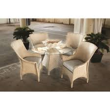 mandalay wicker 48 inch round dining table with glass top
