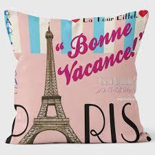 paris  bonne vacance  paperlollipop  art cushionsfunky pillows