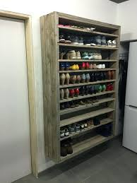 coat shoe rack pallets and hanger giant made out of discarded racks