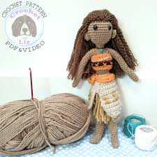 Amigurumi Doll Patterns Enchanting Crochet With Lir Moana Crochet Amigurumi Doll Pattern FREE