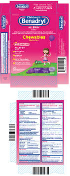 Childrens Benadryl Chewables Tablet Chewable Johnson