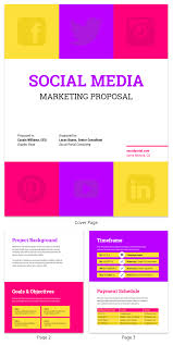 Social Media Proposal Template Bold Social Media Consulting Proposal Template