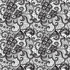 lace black seamless pattern with flowers on white background vinyl wall mural abstraction