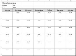 Excel Kalender Dynamischen Monatskalender Erstellen Download Excel Toptorials