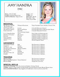 Actors Resume Magnificent Actor Resume Sample Layout Unique Free Acting Resume Samples And
