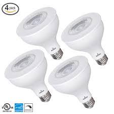 Par30 Warm White Led Flood Light Details About 4 Pack Par30 Led Flood Light Bulbs Dimmable 11w 75w 3000k 850 Lumens E26