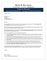 Sample Of Cover Letter For Employment Magnificent Sample Cover Letter For CTO Executive Resume Writing Service IT
