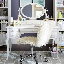 Lilac Desk & Vanity Mirror Hutch | PBteen