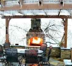 patio fireplace kit fab outdoor stone kits uk