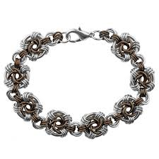 chainmaille jewelry chocolate swirls bracelet kit jewelry kit jump ring jewelry