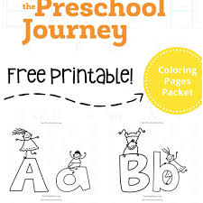 Alphabet Coloring Pages Preschool With Free Packet 1 And Alphabet