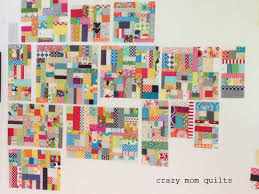crazy mom quilts: scrap vortex QAL week 3 & This week is more of the same...sewing two pieces of patchwork that are  about the same size together. See how the blocks are getting larger and  larger? Adamdwight.com