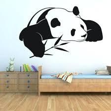panda wall decal panda wall stickers cute animal wall decals wallpaper waterproof self adhesive art for on giant panda wall art with panda wall decal puresocialclub