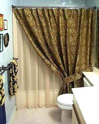 double swag shower curtain with valance great swag shower curtains shower curtains with valance and tiebacks shower curtains with valance and tiebacks