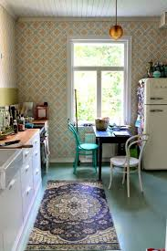 Wallpaper In Kitchen 17 Best Ideas About Blue Kitchen Wallpaper On Pinterest