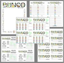 Bunco Score Sheets Template Magnificent Baby Bunco Printable Set Baby Shower Bunco Score Cards Etsy