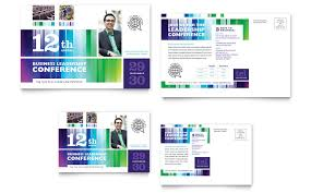 Postcard Template For Word Business Leadership Conference Postcard Template Word Publisher