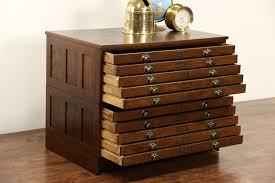 sold  oak  drawer vintage map chest architect or artist file