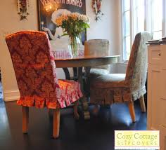 Red Dining Room Chair Covers Parson Chair Slipcovers Design Homesfeed