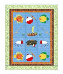 Baby boys Quilt Pattern Little Boys' Fishing -