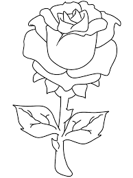 rose valentines coloring pages
