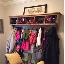 hallway storage cubby coat rack wall