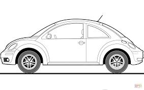 Volkswagen Kever 2009 Kleurplaat Gratis Kleurplaten Printen