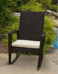 outdoor rocking chair all weather brown wicker tortuga bayview patio furniture