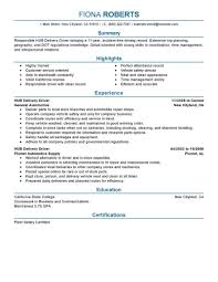 Driver Resume Example Best Hub Delivery Driver Resume Example LiveCareer 21