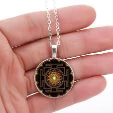 fashion buddhist sri yantra necklace