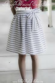 High-Waisted Sash Skirt {Tutorial} | Diy skirt, Circle skirt pattern, Diy  clothes