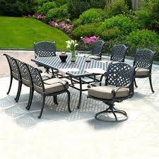 6 piece patio dining set castle rock 9 piece cast aluminum patio dining set weekends only
