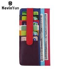 kevin yun designer brand genuine leather women card holder patchwork leather credit card case wallet32773690676