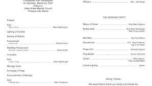 Dinner Program Templates Free Office Wedding Program Templates Bi Fold Word Ms Template Ideas