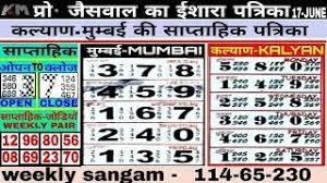 Kalyan Mumbai Chart