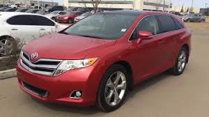Pre Owned Red on Black 2013 Toyota Venza AWD located in Edmonton ...