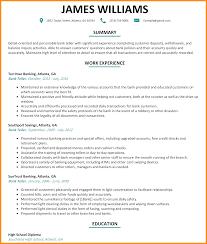 7 Sample Bank Teller Resume Agenda Example