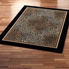 leopard print area rug fetching complete jungle hunt square black borders animal pattern wool rugs as
