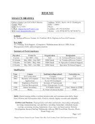 Sample Resume For Air Hostess Fresher Resume For Study