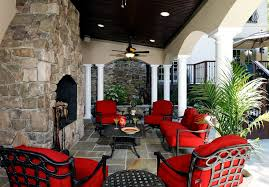covered porch furniture. mallin patio furniture traditional with archway ceiling fan columns covered fireplace porch