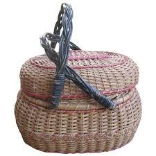 antique amish folk art basket kavli lancaster pa