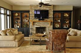 top stone around fireplace on interior with bookcases built in cabinets living room tv wall units bookshelves beside mantel bookcase prefab shelves and