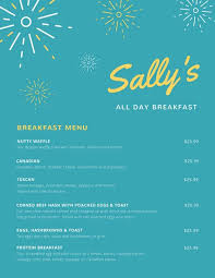 Breakfast Menu Template Stunning Customize 48 Breakfast Menu Templates Online Canva