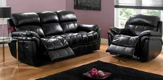 Leather Reclining Living Room Sets Real Leather Reclining Sofa Hotornotlive