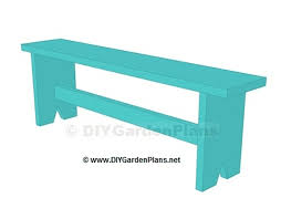 ilration of a wood bench from diy garden plans