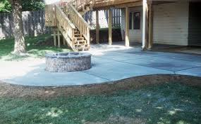 concrete patio with fire pit stamped patios designs patio ideas concrete floor stained stamped