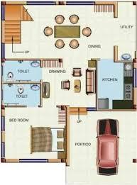 1200sqft north facing duplex floor plan