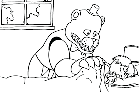 Funtime Foxy Coloring Pages Coloring Sheet Print Five Nights At S