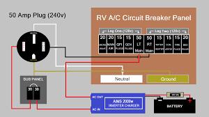 rv off grid set up ac wiring schematic
